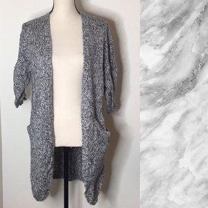 3️⃣/2️⃣5️⃣ H&M Gray Open Front Cardigan w/ Pockets
